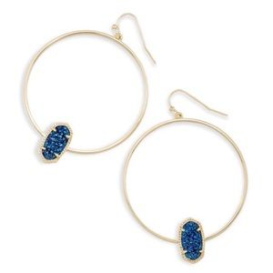 KENDRA SCOTT • Elora Hoop Earrings Blue Drusy